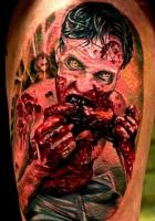 Zombie brain eater tattoo