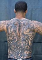 Colin Kaepernick Back Tattoo