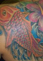 Koi and Flower