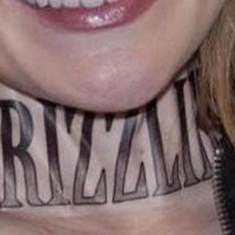 Grizzlies Neck Tattoo