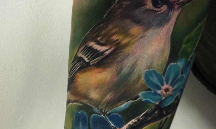 Realistic sparrow tattoo for Realistic bird tattoo