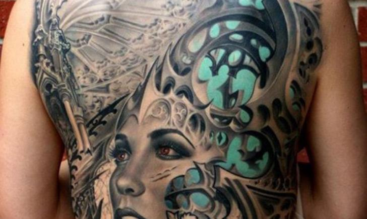 15 full back tattoos on women that are masterpieces for Full back tattoos women