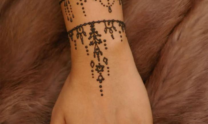 Pin henna tattoo ink bleeding on pinterest