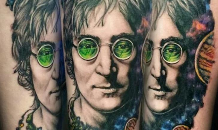10 imaginative john lennon tattoos. Black Bedroom Furniture Sets. Home Design Ideas
