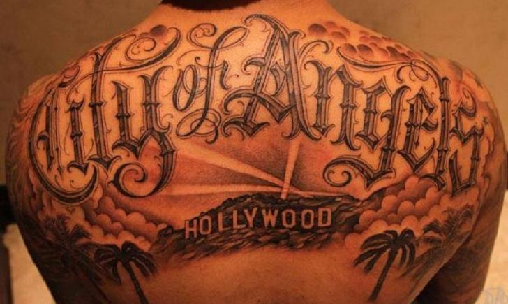 Los angeles tattoos for Laker tattoo designs