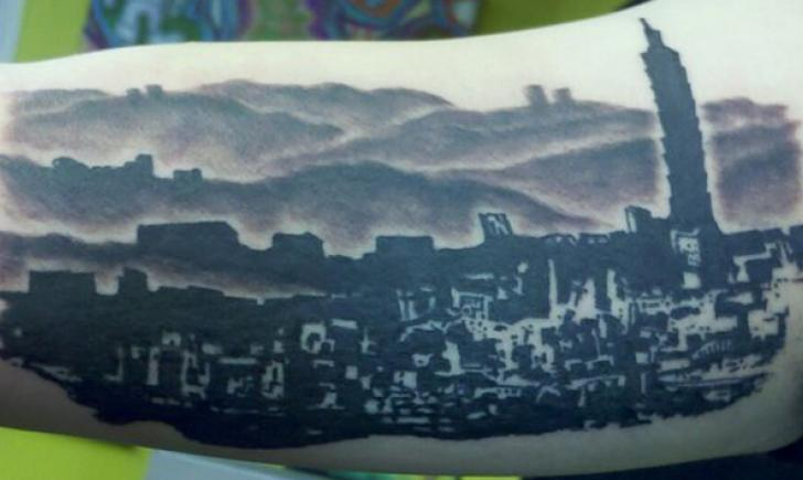 Toronto Skyline Tattoo