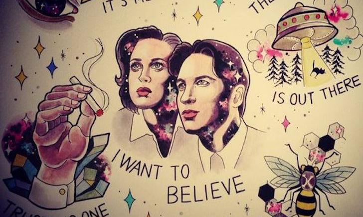 X Files I Want To Believe Tattoo Pics Download