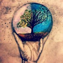 Earth day tattoo