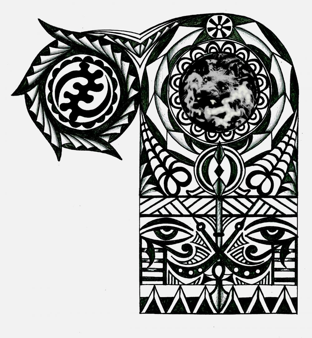 Adinkra african warrior tribal half sleeve tattoo for Tribal warrior tattoos