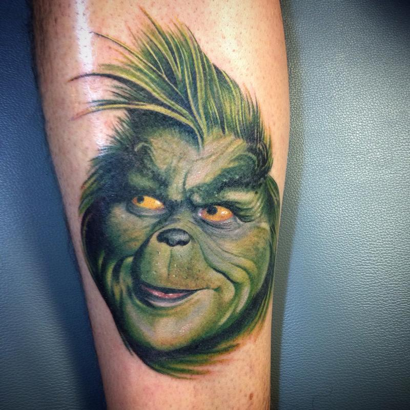 10 best grinch tattoos for Top 10 tattoo shops in nyc