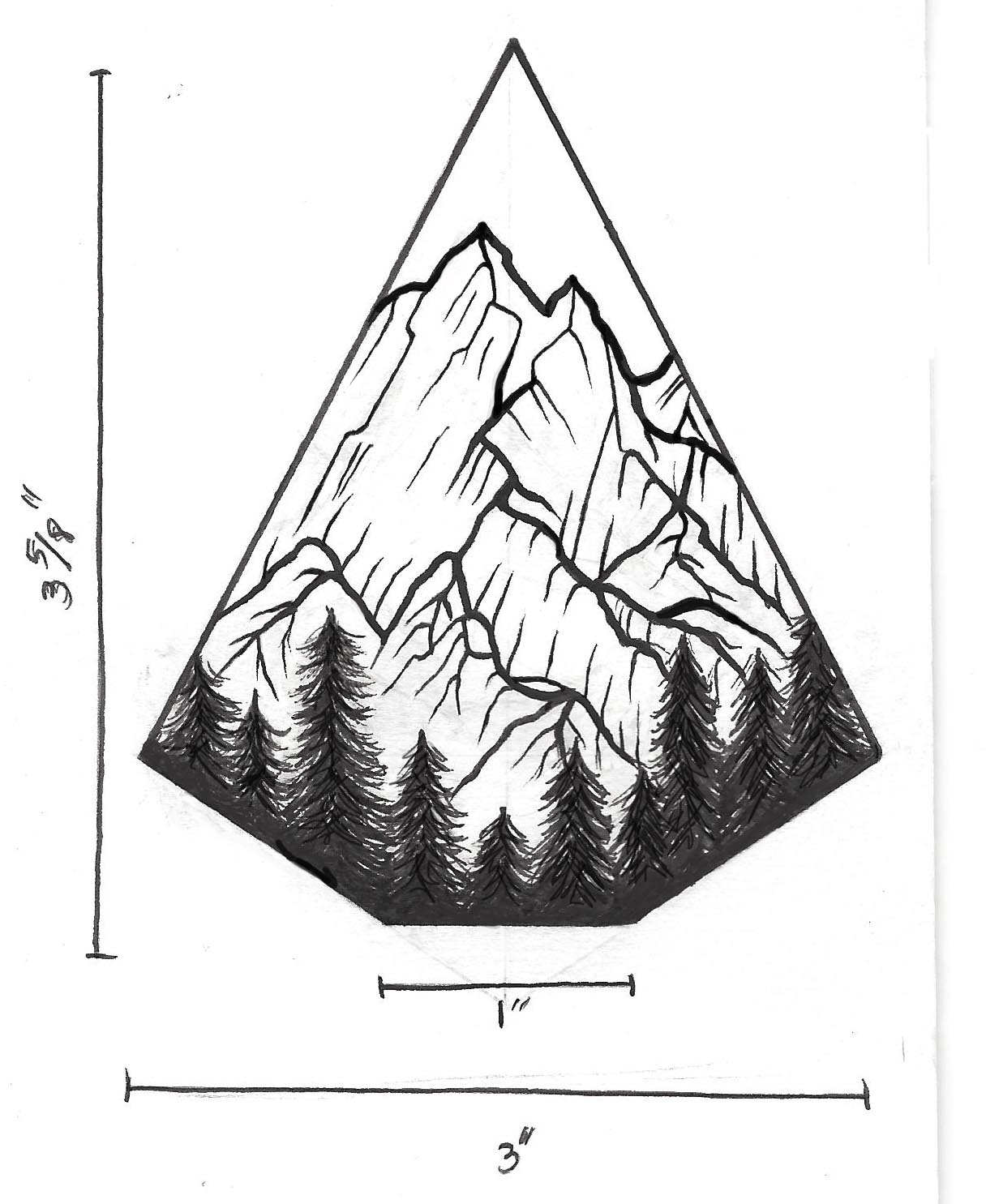 Line Art Mountains : Mountain line drawing tattoo imgkid the image