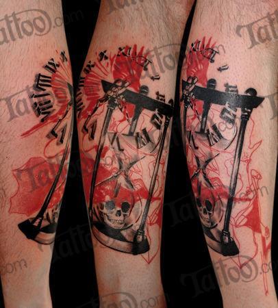 Hourglass tattoo trash  Design: A Trash Polka Hourglass   Tattoo.com