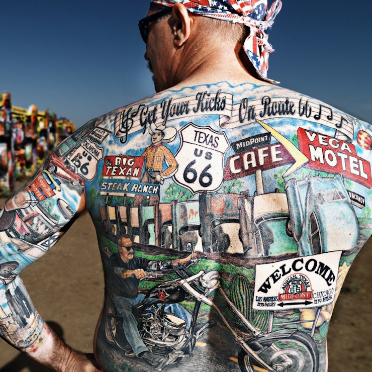 Top 10 route 66 tattoos for Top 10 tattoo shops in nyc