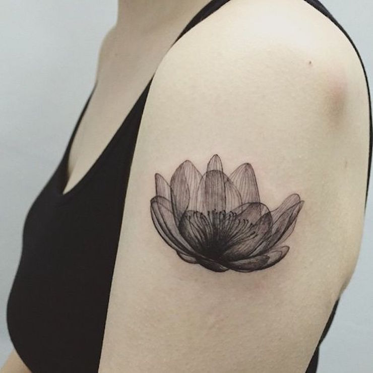 10 coolest x ray flower tattoos for X ray tattoo