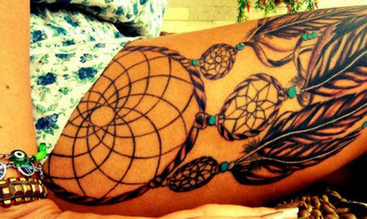 100 Native American Tattoos For Men - Indian Design Ideas |Native American Dreamcatcher Tattoo